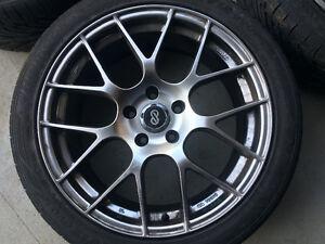 Subaru STI,18 inch Raijin rims with 245/40r18 hankook tires. Strathcona County Edmonton Area image 5