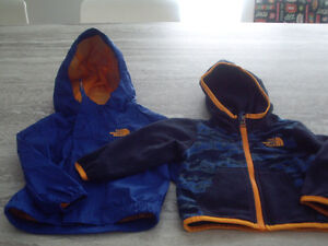 Manteau et polar North face 6-12 mois