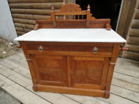 ANTIQUE EASTLAKE WASHSTAND