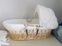 Izziwotnot Moses basket and mattress