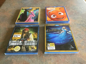 Cinderella; Sleeping Beauty; Finding Nemo; Pirates of Caribbean