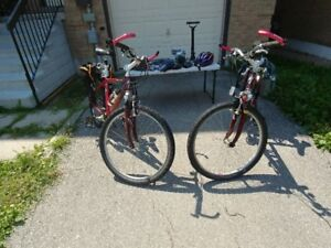 SPECIALIZED 21 SPEED MOUNTAIN BIKES - FRONT FORK SUSPENSION