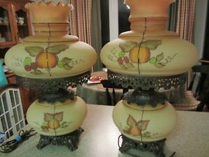 Two Gorgeous Hurricane Lamps
