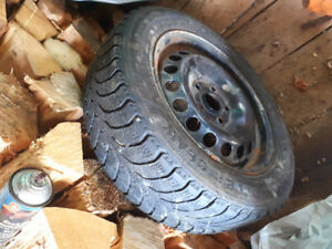 4 Winter Claw tires on rims for sale