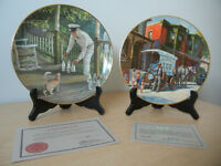 """Ice"" and ""Milk"" LOT of 2 Porcelain Plates by Ted Xaras"
