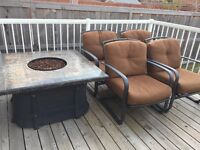 Patio Set (propane fire)