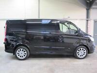 Ford Transit Custom SPORT L1 2.2TDI 155ps Low Miles in Black with ** NO VAT **