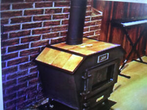 Beutiful , Old Cast Iron Wood Burning Stove