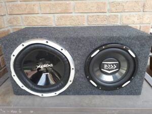 BOSS double box Sub Speakers