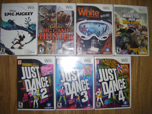 7 Wii Games for sale Truro