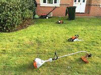 Grass cutting hedge trimming lawn mowing tree surgery weeding landscaping turf laying fencing