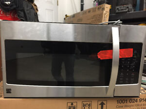 Kenmore microwave over the stove