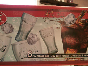 NEW COCA COLA GLASS SET