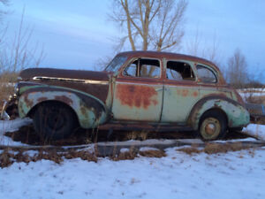 1940's Chevrolet 4 Door Deluxe Sedan Chevy Car Parts Rat Rod