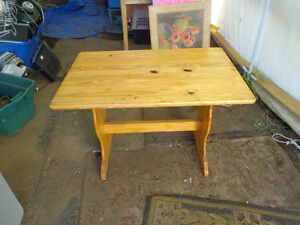 hand made country table.