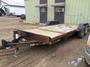 18 Foot Equipment Car Hauler Tilt Deck