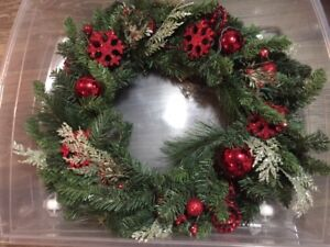 Christmas Wreath with storage container