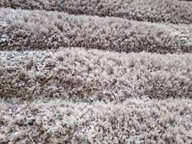 Dunelm ombre carved rug