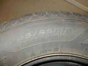 Set of four winter tires and rims for Dodge Caravan 225/65 R16 London Ontario image 2