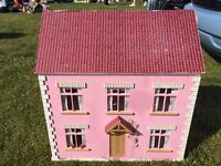 DOLL HOUSE- large wooden doll house