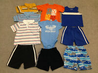 CHILDREN'S PLACE ONLY 10 pcs of summer clothes for boy size 24m