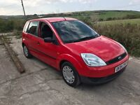 FORD FIESTA LX SEMI-AUTO 5DR RED 1.4 2004 LOW MILES