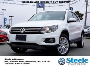 2017 VOLKSWAGEN TIGUAN Comfortline - Off lease, Certified, Low K