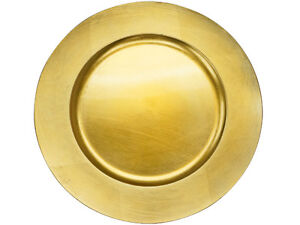 Gold Charger Plates for sale, $1.5 per plate. stck available