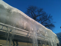 Ice Dams snow removed removed or roof repaired