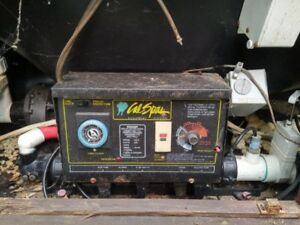 Hot tub pump and control unit