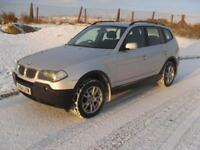 BMW X3 2.5i 2004MY SE 4X4 Estate High Spec MOT 23/11/18 6 Speed Alloys Sensors