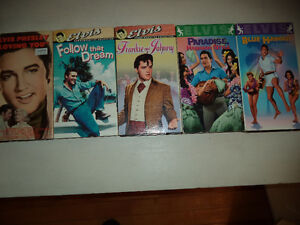 ELVIS MOVIES & CONCERTS ON VHS