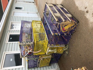 14 large wire lobster cages