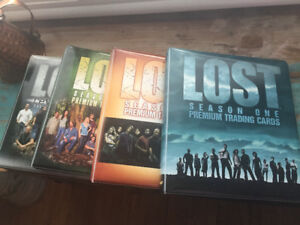 LOST tv show trading cards and binders