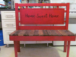 RUSTIC BENCH FOR INDOORS OR OUTDOORS