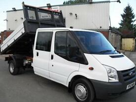 2012 FORD TRANSIT CREW D/CAB TIPPER 115PS, CLEANEST AVAILABLE, FINANCE, CALL!!