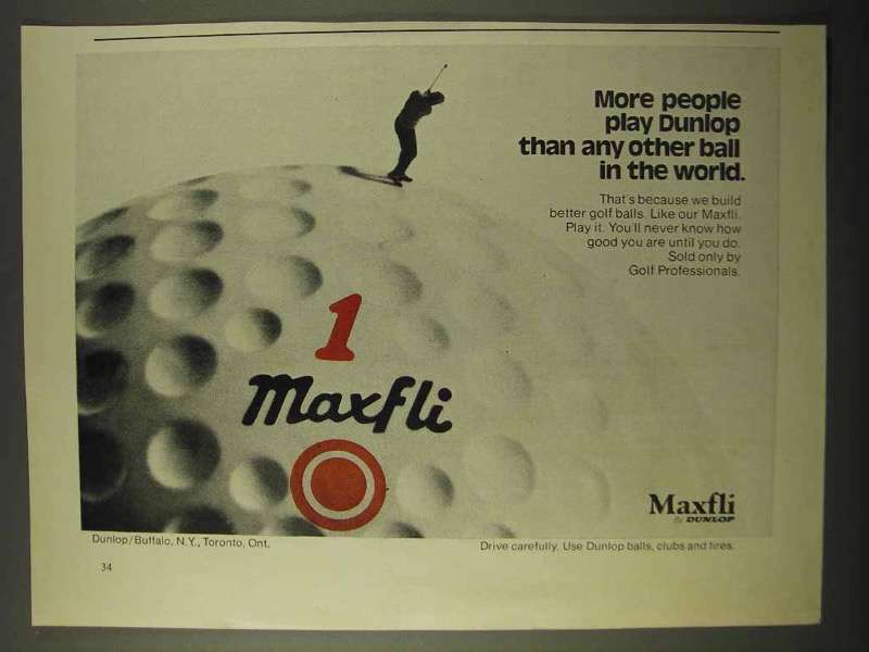 1971 Dunlop Maxfli Golf Ball Ad - More People Play