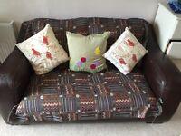 Sofa two seat brown leather FREE