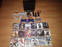 SLIM PS3 COMPLETE BUNDLE WITH PS MOVE; CAMERA AND 3 CONTROLERS