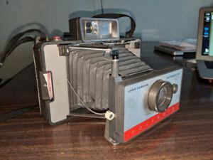 Old cameras 1950s - 70s. Retina 3c, Polaroid 104, and Kodak EK4