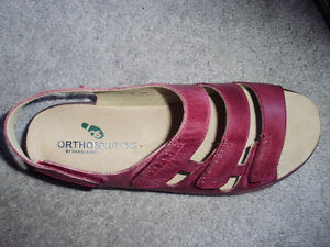 Red Leather Sandals by Ortho Solutions - by Hans Leibniz Cambridge Kitchener Area image 2