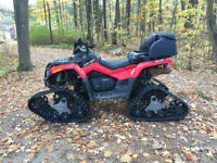 2011 can am outlander max 650 with tracks