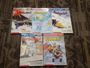 SCHOLASTIC WILD EARTH WEATHER BOOK LOT