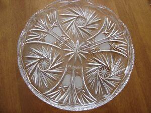 Pinwheel crystal serving platter