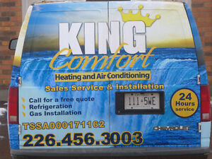 Heating repair/install.furnace repair install. vent. Refrigerati London Ontario image 4