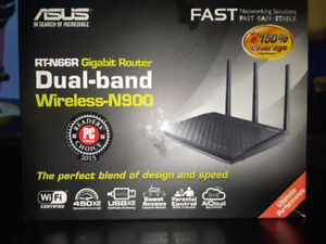 BRAND NEW!Asus wireless high speed cable router. Gigabite router