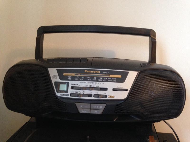 panasonic stereo cd radio cassette player in. Black Bedroom Furniture Sets. Home Design Ideas