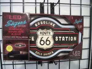 New LED Rope Neon Route 66 Sign