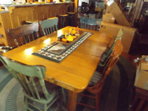 Antique Dining Table & Chairs