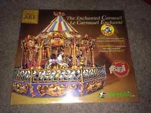 """Wrebbit Build Art Collection """"The Enchanted Carousel"""" NEW! Model"""